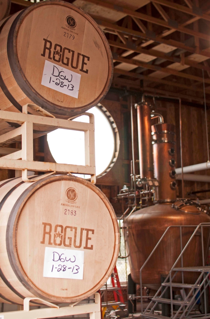 Ocean aging our spirits in barrels.