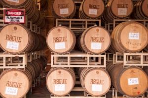 Distillery barrels