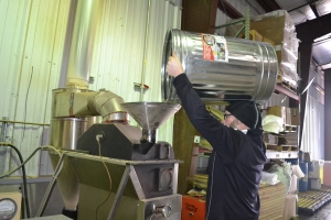 Roasting Rogue's DIY Pilsner Malt at the Brewery in Newport.
