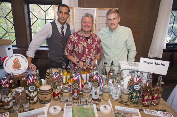 Left to right: Rogue Mixologist Tony Gurdian, Rogue Distiller Jeff Alexander and Rogue Spirits President Mike Higgins.