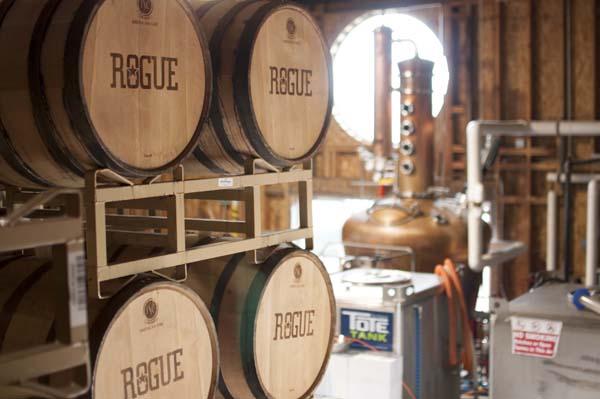 Distillery and Barrels