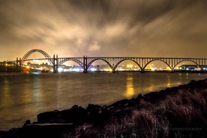 Yaquina Bay Bridge Night