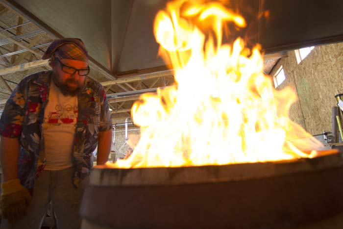 Barrel Charring Close Up