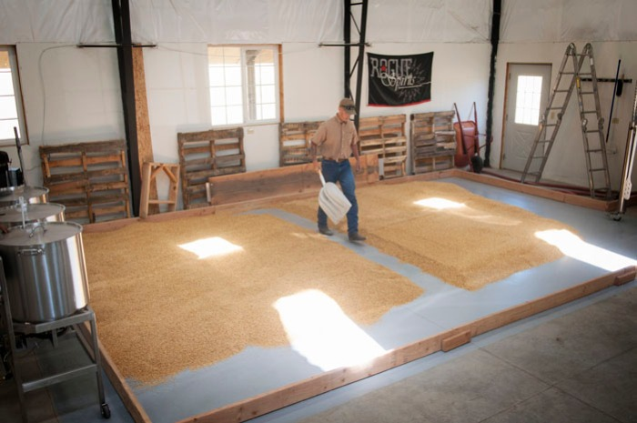The malting floor of the Farmstead Malt House is smaller than most people's living room.