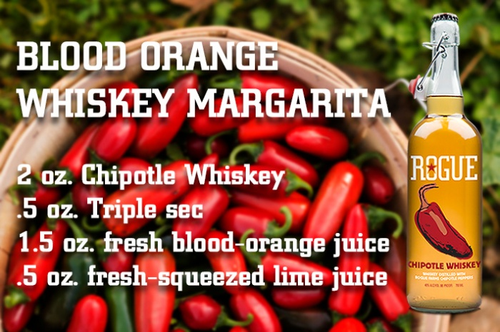 blood orange whiskey margarita