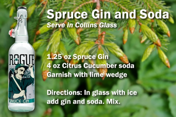 Spruce Gin and Soda