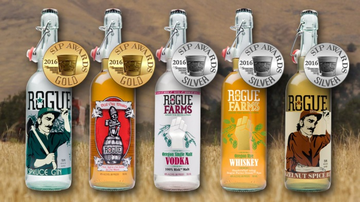 The line up of Rogue Spirits winners at the 2016 SIP Awards.