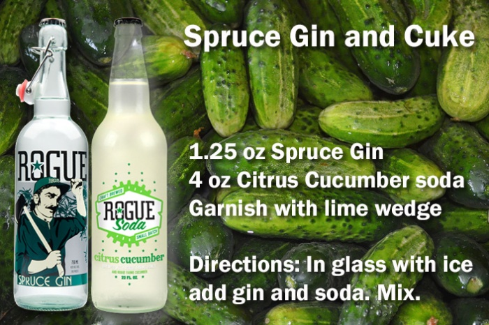 Spruce Gin and Cuke